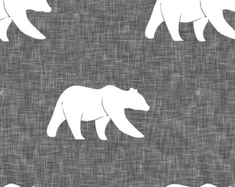 Bear Contour Changing Pad Cover - Woodland, Lodge, Gray