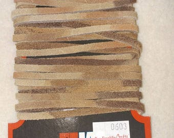 genuine leather lace 6 yards variegated color