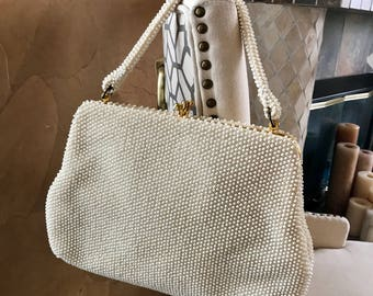 Vintage 1950's Corde Bead handbag by Lumured