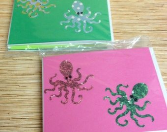 Fancipus Octopus Blank Note Cards 8 ct.