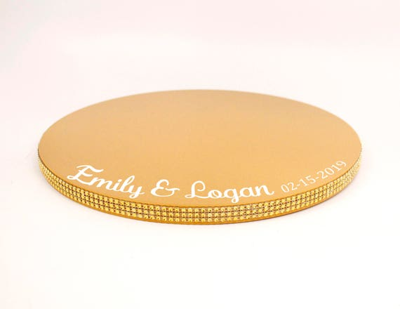sc 1 st  Etsy & Personalized Gold Cake Stand Plate Personalized Cake Plate