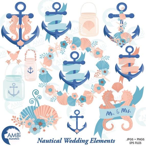nautical clipart coastal clipart wedding clip art beach rh etsy com Beach Wedding Clip free beach wedding clipart images