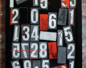 here's my number - typographic art - painting