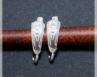 Sterling Silver Leverback, Ear hooks, Ear wire, earrings components B13