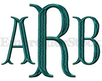 Fishtail Monogram Font Monogram Machine Embroidery Font Design Machine Embroidery Fonts Design - 6 Sizes