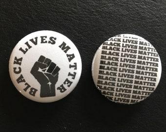 """BLACK LIVES MATTER set 1"""" buttons"""