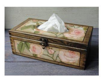 Tissue box Tisssue cover Kleenex box Kleenex holder Tissue holder Napkin box Wood tissue box Kleenex cover Napkin holder Wooden tissue box