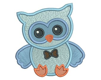 Baby Owl Machine Embroidery Design, Fill Stitch Owl, Sweet Baby Bird, Cute Owl Embroidery Design, 3 Sizes, Instant Download, no: S558-2
