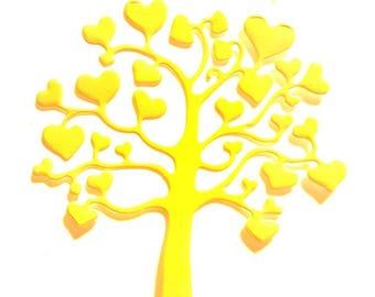 Scrapbooking hearts tree cutout