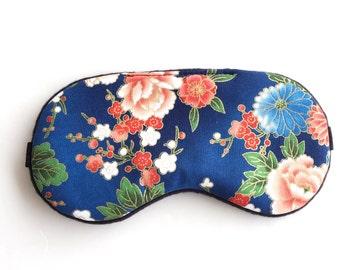 Oriental Floral  Eye mask, Sleep Mask, Slumber Party Sleep Mask, Travel Sleep Mask.