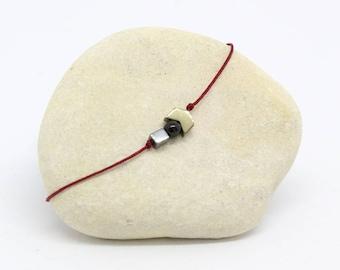 Minimalistic cord bracelet - geometric Bracelet - arrow Heleana