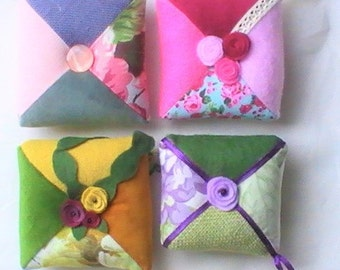 Four seasons pincushions {Spring/Summer/Fall/Winter}