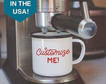 Custom Enamel Mug - Customized Enamel Mug - Camping Mug