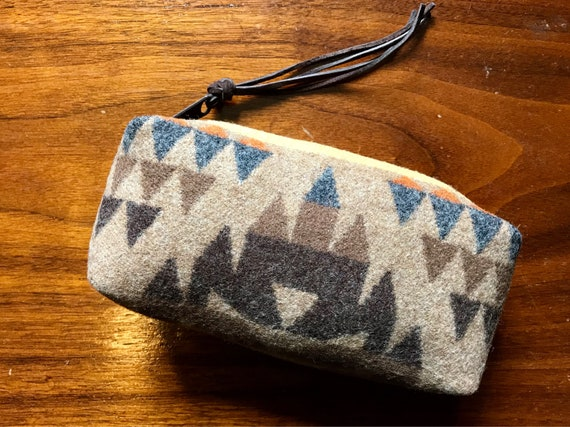 Cosmetic Bag / Makeup Bag / Zippered Pouch Small Earthy Browns