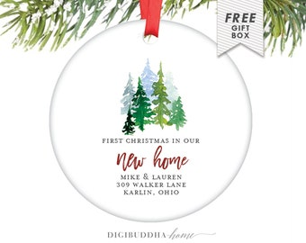 First Christmas In Our New Home Ornament Personalized Gift First Christmas New House, New Home Gift For Wife Custom Christmas Ornament House
