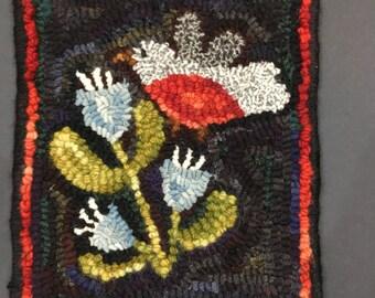 "Hand hooked wool rug  10.5""x9"""