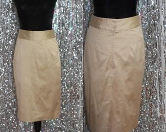 Classic Banana Republic Pencil Stretch Tan Skirt (6) *Mint Condition