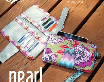 Pearl Wallet Clutch Pattern by Swoon - Paper Printed Pattern