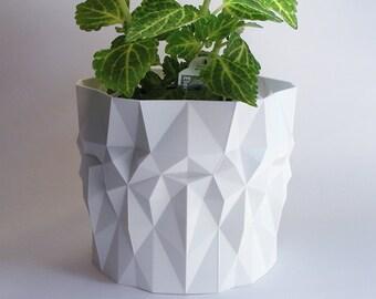 Garden Planter Outdoor Planter Container Gardening Geometric Pot Large Pot Contemporary Modern Decor Modern Pot