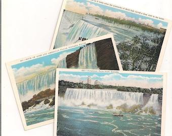 America Falls Niagara Falls 1920s Vintage Unused Postcards Set of 3