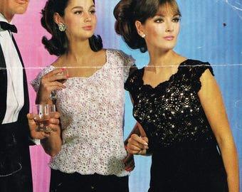 2318R Ladies  jumper  crochet vintage pattern PDF instant download