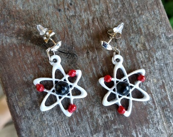 Atomic symbol earrings