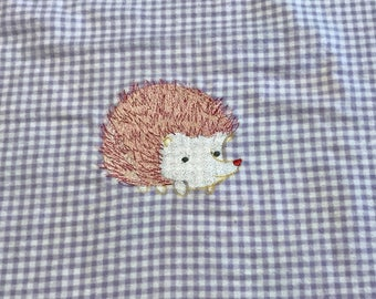 Cute Hedgehog receiving blankets