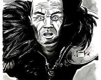 MAD MAX - The Road Warrior - Wez original ink drawing