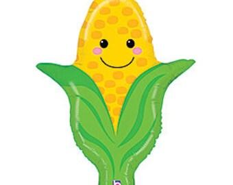 SHIPS FAST - Corn Balloon, Vegetable Birthday Party, Veggie Tales Party, Veggie Tales Balloon - SHIPS 2-3 Business Days