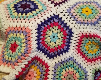 Octagon Baby/Infant Crocheted  Blanket