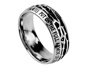"""Crown Of Thorns Ring """"Armor Of God"""""""