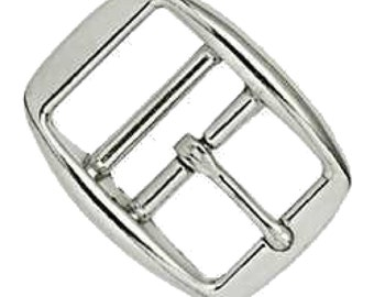 """Double Bar Buckle 1"""" (2.5 cm) Nickel Plated 1514-04 by Tandy Leather"""