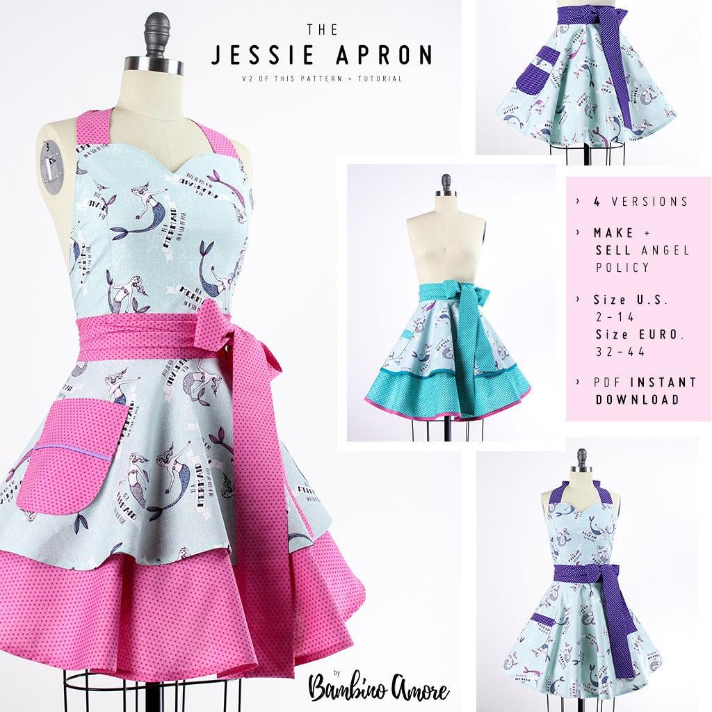 Aprons for Women Pattern, Women\'s Apron Pattern, Apron Sewing ...