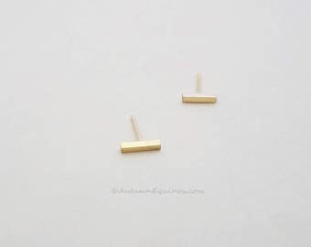 Gold Bar Earrings 14k Gold Filled