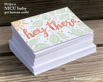 Hey There Greeting Card. For spring, birthdays, love, friendship, thinking of you, more. Buy a Card, Feed a Baby. Includes Envelopes.