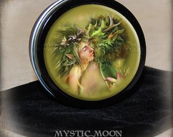 Greenman / Stitch Marker Tin / Notion Tin / Storage Tin / Pill Box / Gift Tin / Tin Box / Alter Supplies / Spell  / Pagan / Wiccan / Nymph
