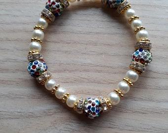 multi-coloured sparkle bracelet