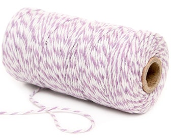 Bakers Twine, 12 Ply Bakers Twine, 100 Yard Spool of Twine, Lavender Bakers Twine, Baby Shower Favor Decor 1st Birthday Twine, Wedding Favor
