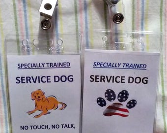 Service Dog Hang Tag - make your own