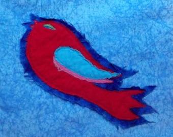 Super Duper Red Bird Applique Pattern