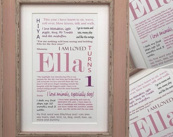 Birthday Celebration Personalised Frame