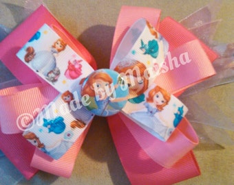 Sophia the first pink collection. Hair bow.