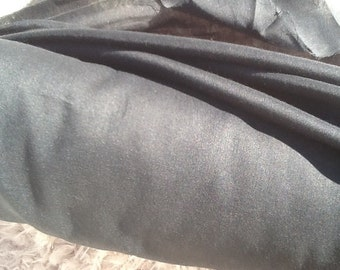 Black Cotton Voile Fabric by the Yard, Cotton Fabric by the Yard, Cotton Yardage, Fabric Yardage