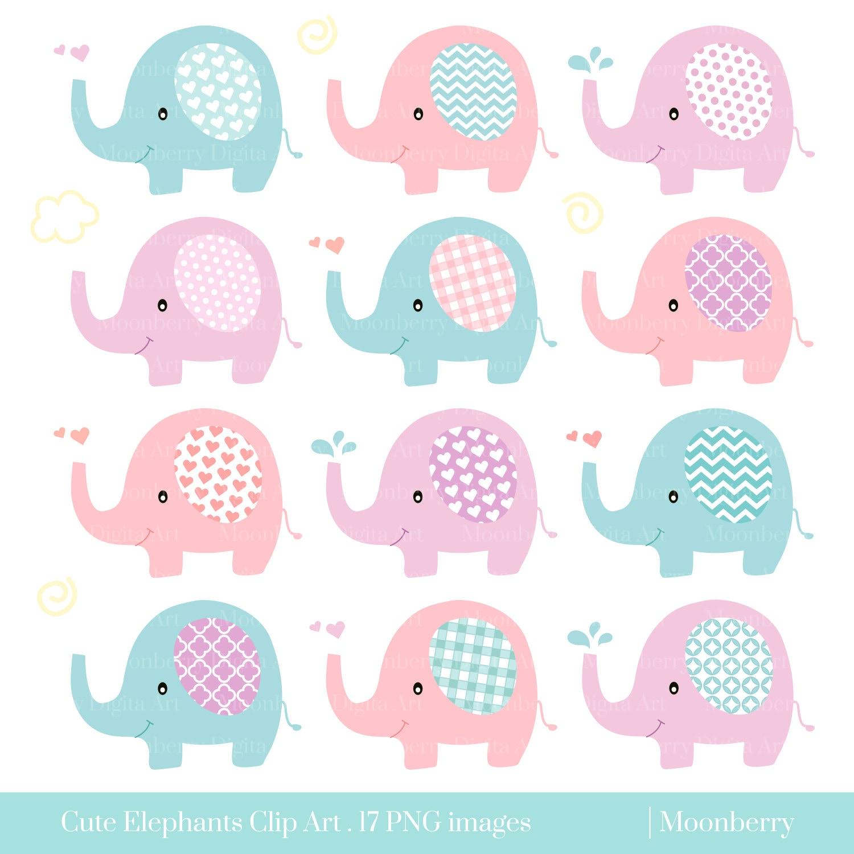 Cute Elephant Clip Art \