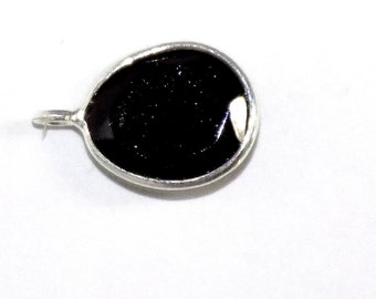 Black Spinel Charms in .925 Sterling Silver
