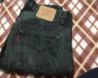 Vintage Levi's Denim Black Jeans W29 L32 Made In USA 80's