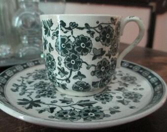 Ridgway Hawthornden Demitasse Cup & Saucer
