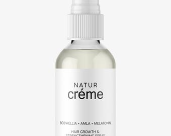 Natural Hair Growth Serum -  Melatonin + Argan + Amla + Boswellia - Hair+Growth Spray