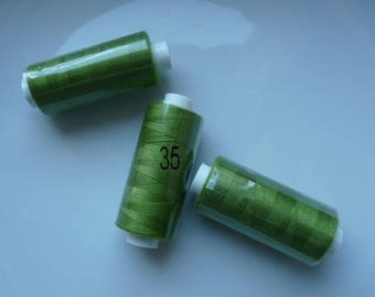 Polyester thread reel 360 m kiwi Green