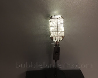 Nashville Hand Made Microphone Lamp From Music City USA